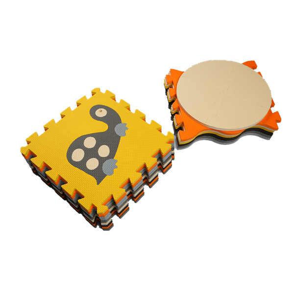 Mei qi serin bebek paspaslar EVA hayvanlar zemin pedi köpük emekleme paspası çocuk oyun paspaslar çocuk yap-boz pedleri