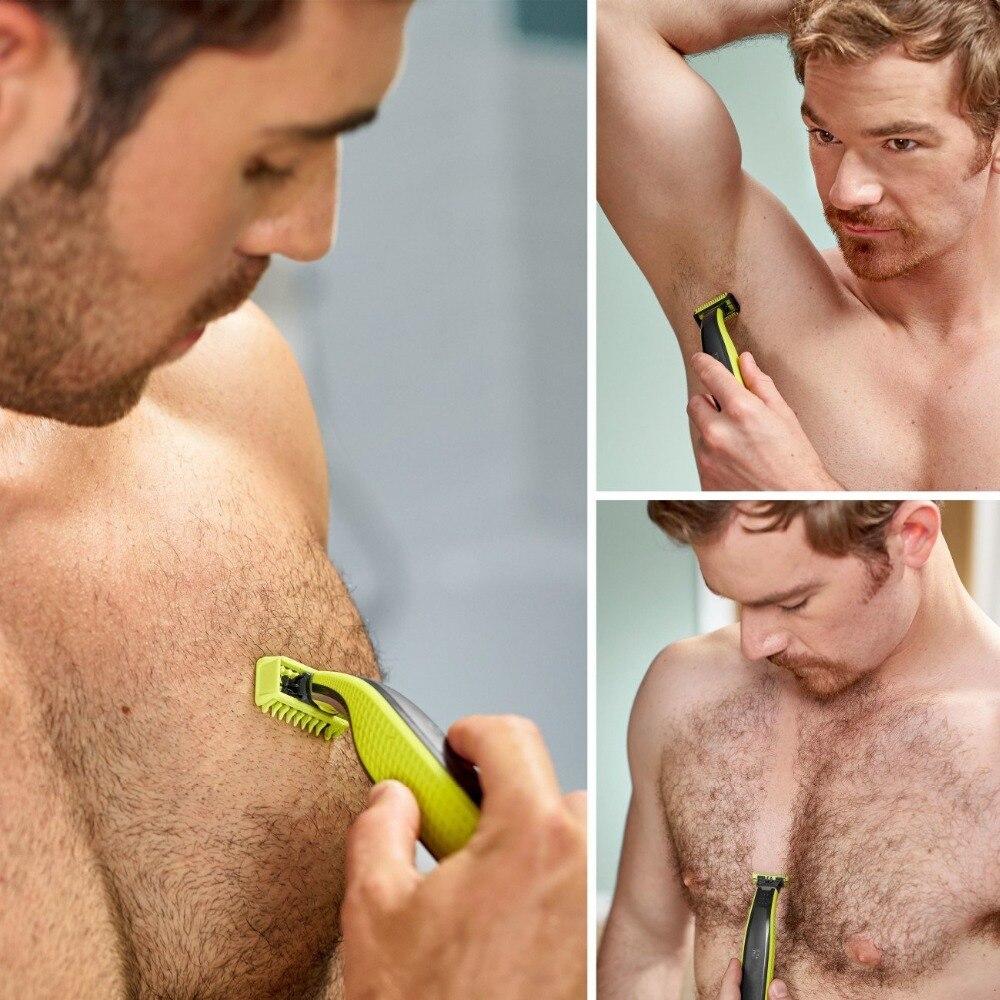 one blade grooming kit body shaver electric razor men edge beard trimmer stubble micro face shaving back hair trimer shape beard 4