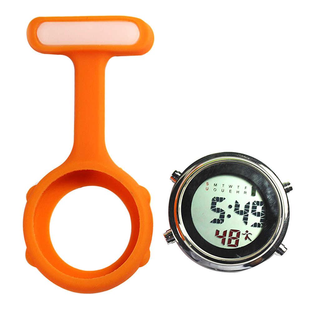 Commercio all'ingrosso 1Pc Display Digitale Quadrante Clip-On Fob del Brooch Dell'infermiera Spille Appendere Tasca Orologio Elettrico
