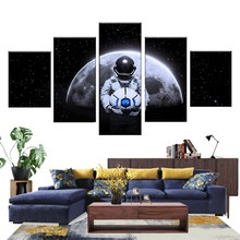 HD Print 5 Pieces Canvas Paintings Moonman Posters Classic Decoration Art On The Wall Living Room Decor Wholesale Framework