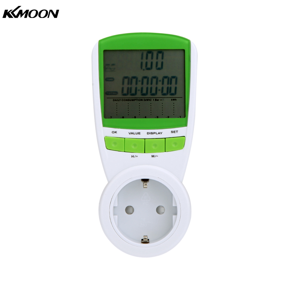 Portable Electric Power Meter : Digital wattmeter voltmeter portable power meter tester