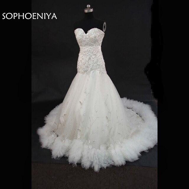 Fashion Casamento White Wedding Dress 2018 Mermaid Wedding Dresses