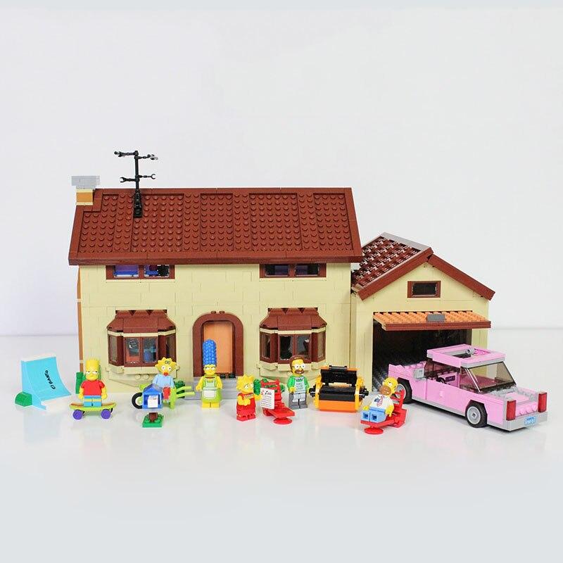 16005 I Simpson Blocchi Casa Costruzione Casa di Famiglia Mattoni Modello Giocattoli Educativi Compatibile con Legoing Movie 71006 Set16005 I Simpson Blocchi Casa Costruzione Casa di Famiglia Mattoni Modello Giocattoli Educativi Compatibile con Legoing Movie 71006 Set