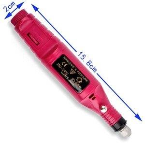 Image 5 - Juego de manicura eléctrica profesional, puntas de uñas, manicura y pedicura, 6 brocas, Kit de herramientas