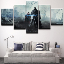 Modular Canvas Paintings Wall Art Print Pictures 5 Pieces Batman Superman The Dark Knight Movie Poster Home Decor Framework