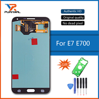 100% Super AMOLED LCD Screen For Samsung Galaxy E7 E700 E700F E7000 E7009 LCD Display Touch Screen Digitizer Parts Replacement