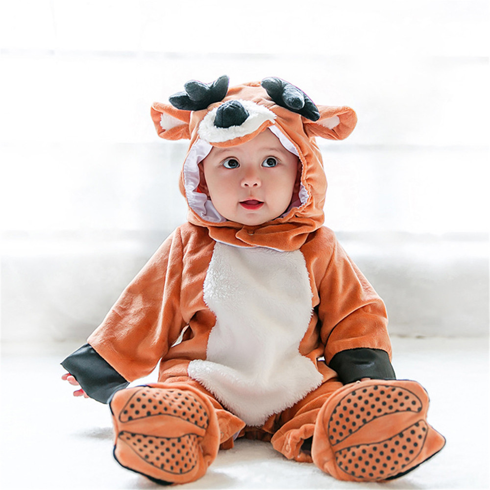 Flavor Official Website Baby Boys Girls Carnival Halloween Santa Elk Costume Romper Kids Clothes Set Toddler Cosplay Jumpsuits Infant Clothes Fragrant In