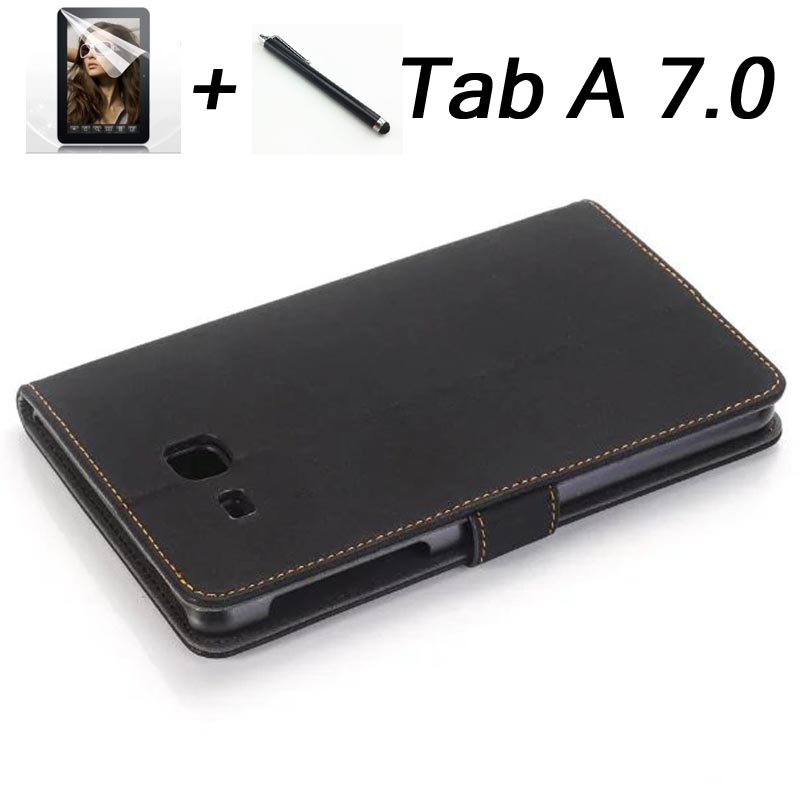 2016 for Samsung Tab a6 7 case Retro luxury PU Leather cover case for Samsung Galaxy Tab A 7.0 T280 T285 Stand Folio capa funda pu leather handheld smart cover case for samsung for galaxy tab s3 new for samsung for galaxy tab 3 9 7 case cover stand