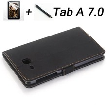 """2016 para samsung tab a6 7 """"case retro de lujo de la pu cubierta de cuero de case para samsung galaxy tab a 7.0 t280 t285 soporte folio funda capa"""