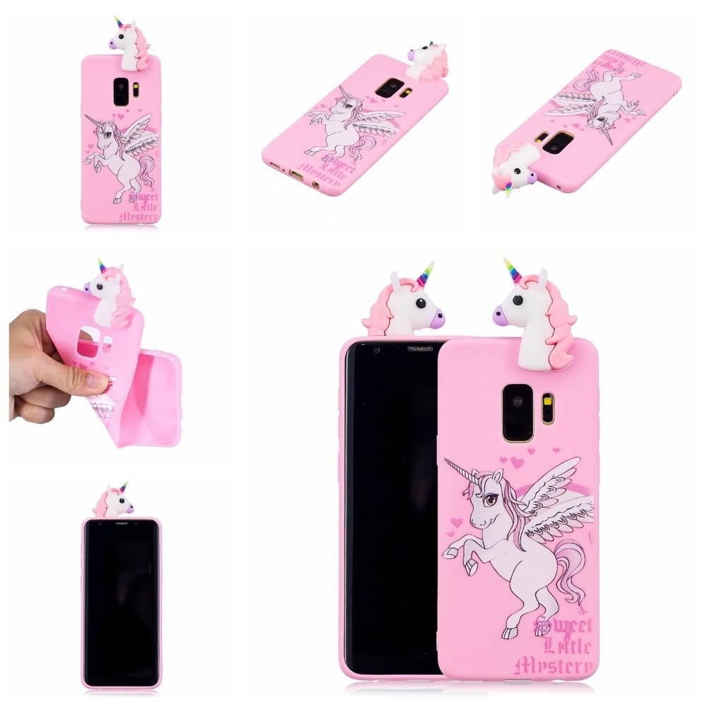 3D Squishy Cartoon Cat Phone Case for Samsung Galaxy S9 plus S6 s7 Edge S8 Note 8 J3 J5 J7 2016 A3 A5 2017 A8 2018 Cover Cases