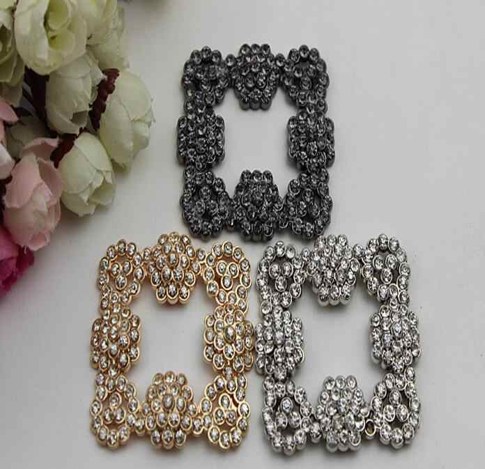 Free shipping (2 pieces/lot) glittering 3 color diamond buckle shoes, shoes flowers, jewelry DIY fashion handbags accessories