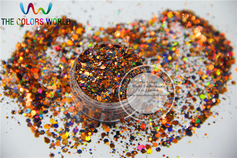AL214-104 Mix Holographic Colors Hexagon Shapes Spangles for Nail Art and DIY supplies1pack=50g hr25 148 mix 2 5 mm pastel matt pearlescent colors heart shape glitter for nail art and diy supplies1pack 50g