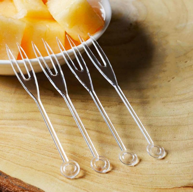 Disposable fruit fork Independent Packing, Transparent ...