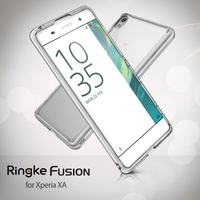 Ringke Fusion Case For Xperia XA Military Grade Crystal Clear Back Panel TPU Frame Drop Protection