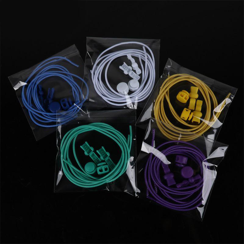 1 Pair No Tie Locking Shoelaces Elastic Unsiex Women Men Trainer Running Athletic Sneaks Shoe Laces Fit Strap Shoelace Wholesale (1)