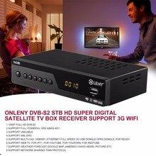 ONLENY DVB-S2 HD Media Player Set Digital Satellite TV Box Receiver 1080P Full HD DVB-S2 with Sunplus CS6001-U Support XML EPG