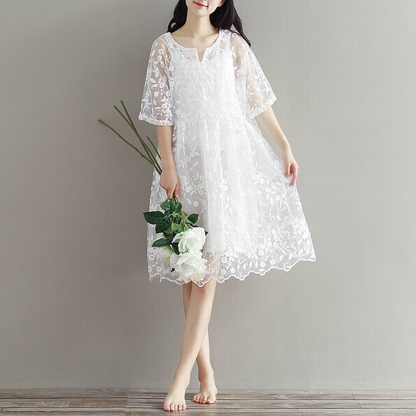Maternity clothing spring twinset lace fairy princess wedding one-piece dress white embroidery dress full dress summer maternity clothing spring twinset lace fairy princess wedding one piece dress white embroidery dress full dress summer