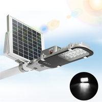 Smuxi 12 LED Solar Street Light 7.4V 5W Solar Powered Panel Outdoor Garden Walkway Lighting Waterproof Light Control