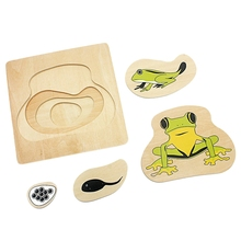 цена на Infant Teaching Aids Toddler Life Cycle Of Frog Puzzles Multi-Layer Grow Up Puzzles Jigsaw Preschool Kids Baby Toys
