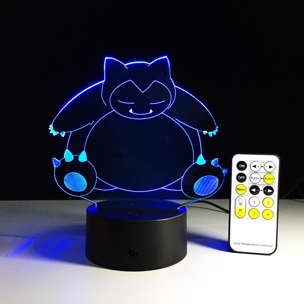 Creative Gifts Pokemon Lamp 3D Night Light USB Led Table Desk Lampara as Home Decor Bedroom Reading Nightlight Drop Shipping