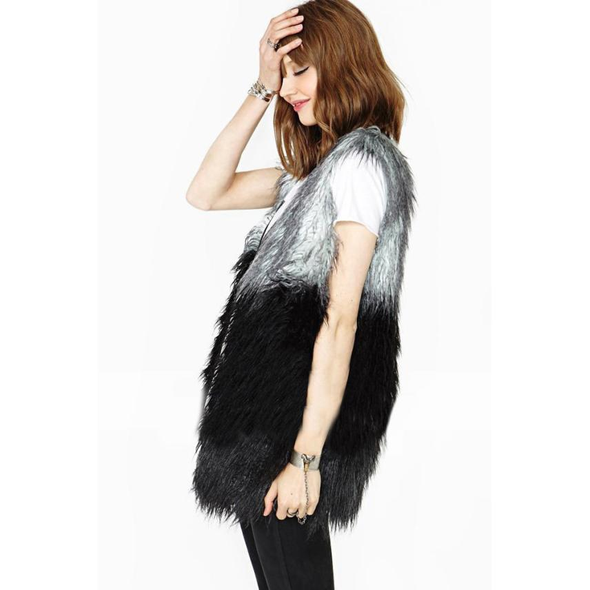 Party girl fashon vest coat Women Faux Fur Vest Jacket Sleeveless ...