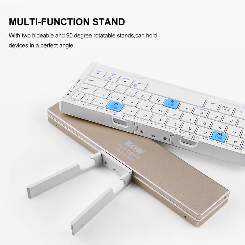 B.O.W Mini teclado inalámbrico Bluetooth plegable para tableta y - Accesorios para tablets - foto 2