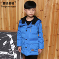 2016 New Winter Boys Duck Down Jacket for Boy Fashion Casual Hooded Thick Warm Boys Down Long Coat Kids Winter Jackets Boy Parka