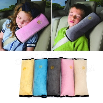 Children Baby Safety Seat Belt Pillow Car Belt Plush Cushion Vehicle Shoulder Protection Car-Styling image