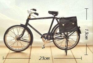 Image 3 - أسود معدن دراجة نموذج و البسيطة ولاعة محاكاة لعبة هدية الديكور نموذج