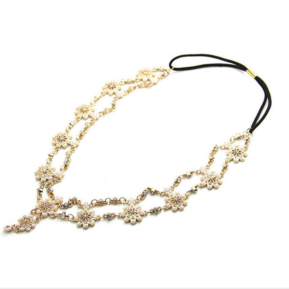 Practical Funny Simple Headband Flower Lovely Stretch Personality Excellent Acessories Latest Gift Classical Hair Wedding