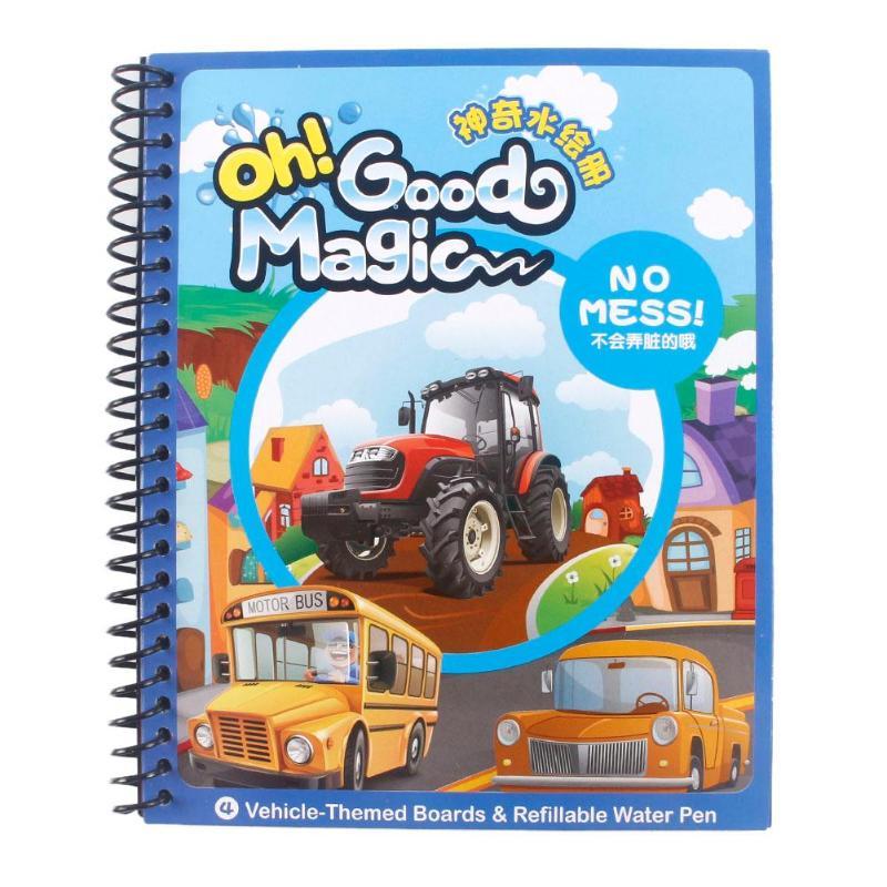 5 тематические Панели многоразовые магия воды для рисования раскраска Doodle с Pen Картина доска для рисования Дети Детская игрушка образования