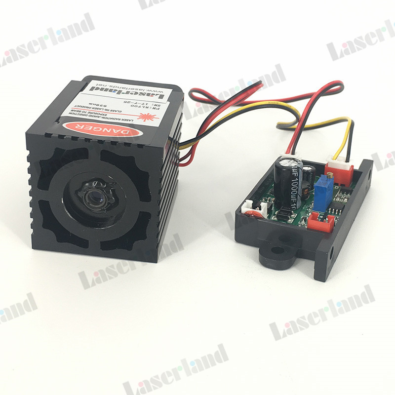 200mW - 300mW 637nm 638nm Fat Beam Laser Diode Module TTL Analog Lighting Show 12vdc