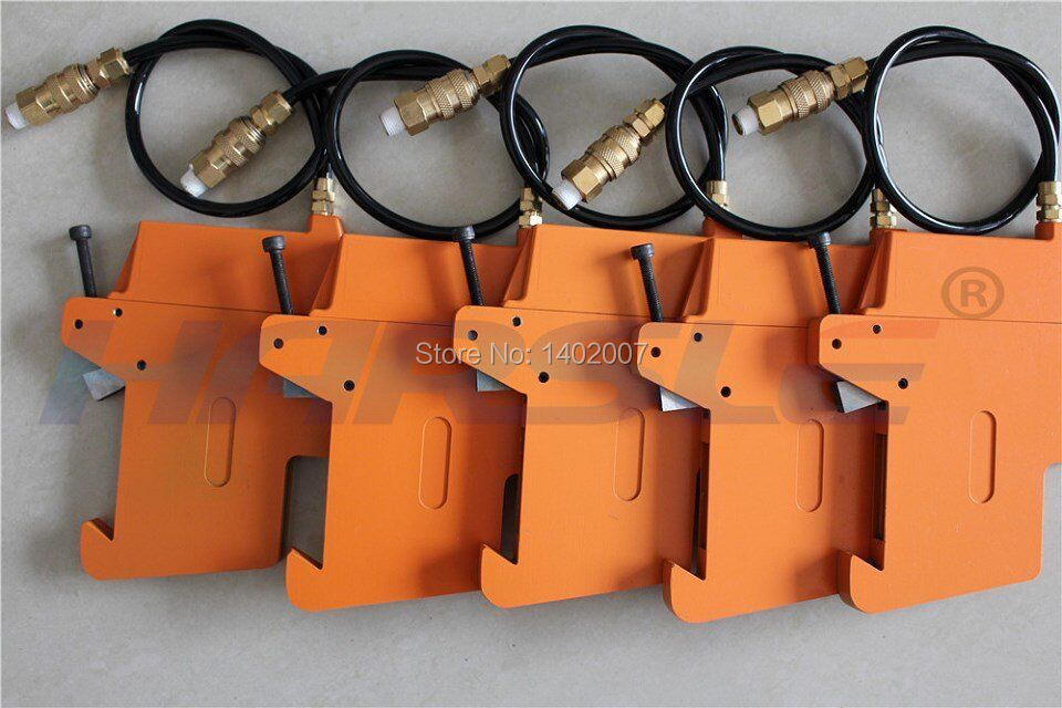 Pneumatic knife holder for slitter machine, air blades holder for slitting blades  round slitter blades for paper manufacturing and converting