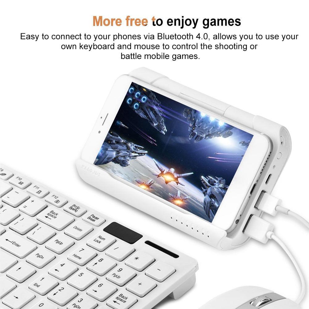 Souris clavier Joypad sans fil pour PUBG Moblie pour Android contrôleur de jeu manette Bluetooth PC convertisseur adaptateur - 3