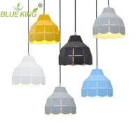 Modern Yellow Lampshade Pendant Lights Halling Loft Study Bed Room Lustres E27 Edison LED Pendant Lamp Fixture