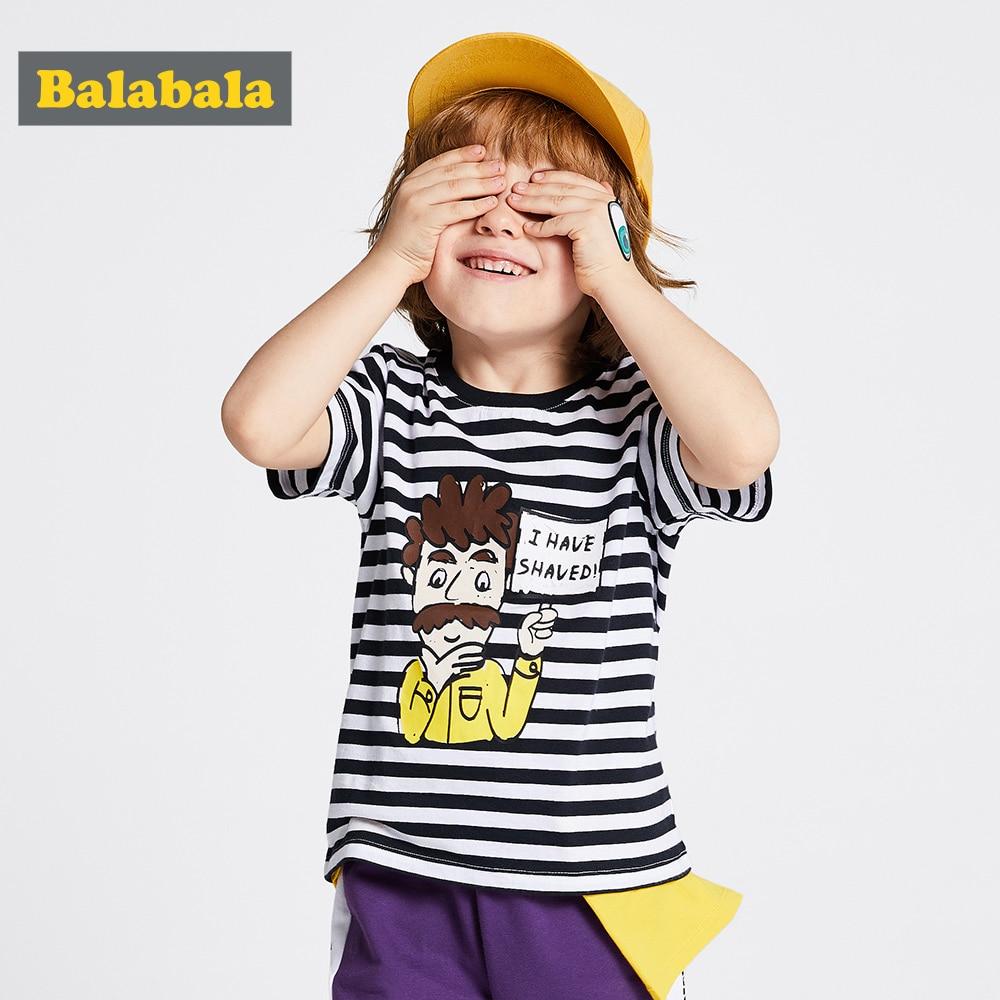 T-Shirt Balabalachildren-Wear Short-Sleeve Baby Cotton Summer New Fashion Boy Tide