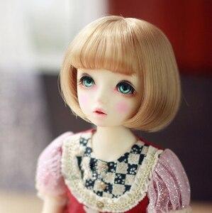 Image 4 - BJD pop haar pruiken Hoge temperatuur draad korte pruiken voor 1/3 1/4 1/6 BJD DD SD YOSD pop super zacht haar