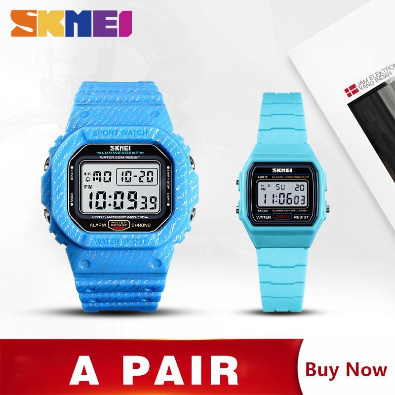 SKMEI Kids Watches 1460-Set Digital 1471 Alarm Sport-Hour Men Week Montre Couple Homme