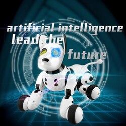 2.4g controle remoto sem fio inteligente cão eletrônico animal de estimação brinquedo das crianças educacionais dança robô cão sem caixa presente aniversário