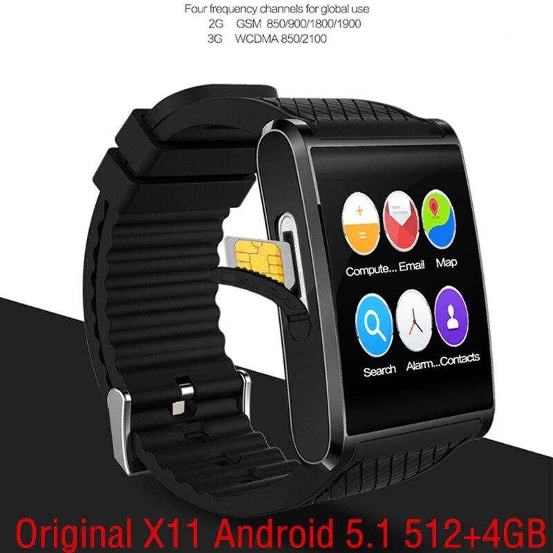 Android 5 1 Smart Watch X11 smartwatch 512M RAM 4G ROM 3G GPS SIM CAMERA SIM