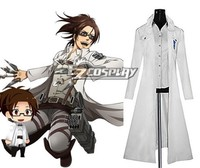 Attack on Titan (Shingeki no Kyojin) The Recon Corp Wings of Counterattack Online Hanji Zoe Cosplay Costume E001