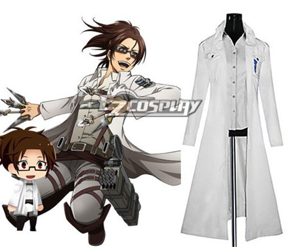 Attack on Titan (Shingeki no Kyojin) The Recon Corp Wings of Counterattack Online Hanji Zoe Cosplay Costume E001 стоимость