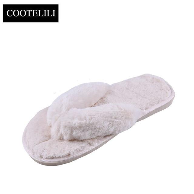Cootelili/зимние модные женские туфли домашние тапочки Искусственный Мех теплая обувь женские слипоны Туфли без каблуков женские Мех животных Сланцы розовый плюс размеры 36-41