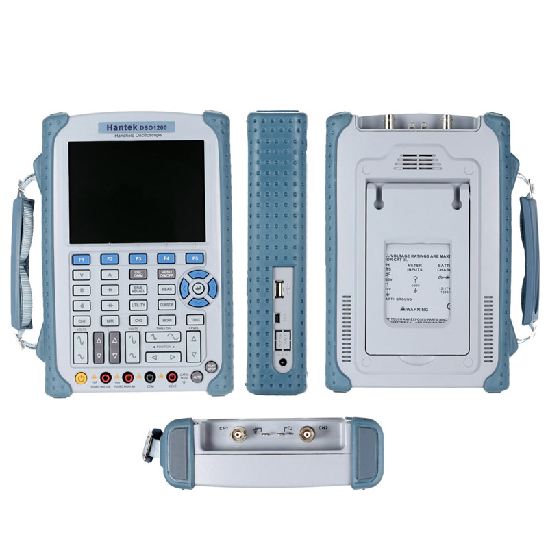 Hantek DSO1200 Handheld Digital Oscilloscope 200MHz 2 channel scope DMM 500MS/s With high quality dso 150 2 0 lcd usb dual channel oscilloscope