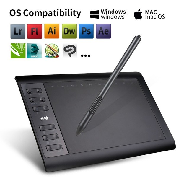 0*6 Inch Professional Graphic Drawing Tablet  3