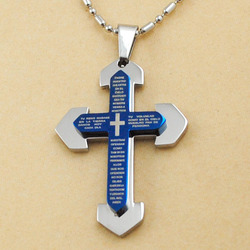 Dolaime blue scripture crucifix necklace religious women men cross pendant christianity jewelry new items free shipping.jpg 250x250