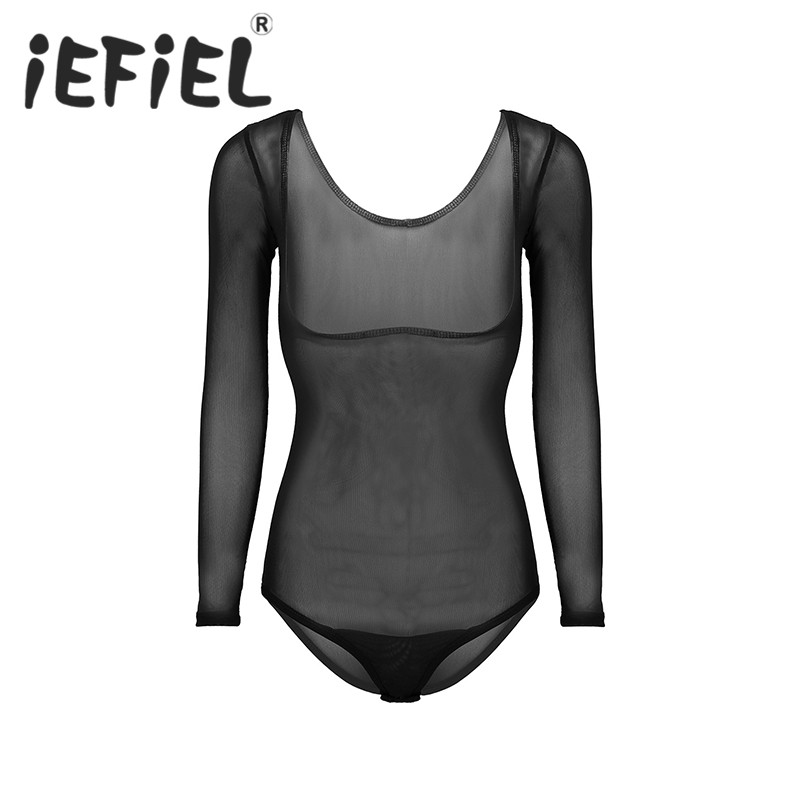 Sexy Female Women Lingerie Mesh See Through Sheer Bust Opened High Cut Thong Leotard Bodysuit Belly Dance Bodysuit Nightwear