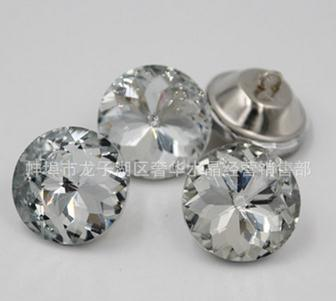 500pcs 18mm Factory direct sale bauhinia pull clasp Crystal button sofa setting wall decoration Glass Bauhinia