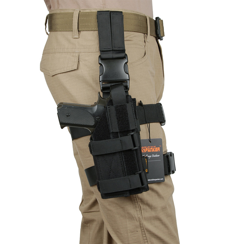 EXCELLENT ELITE SPANKER Mini Drop Leg Panel with Universal Leg Hanging Pistol Bag Outdoor Hunting Hanging