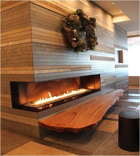 On Sale 48 Inch Black/silver Smart Control Indoor Fireplace Ethanol